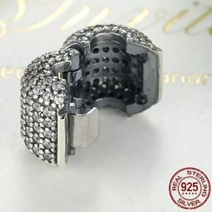 S925 Sterling Silver Cz Barrel clip for Pandora